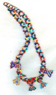 """Ladies Night Out"", a fun and colorful beaded necklace by artist Sally Peck"