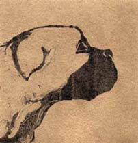 """The Boxer"", a monotype of a Boxer dog by Susan Cartwright"