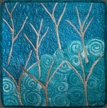 """Bare Trees"", an art quilt by Nana Montgomery"