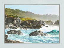 """Storm Surge, Point Lobos"", an oil painting by Jessica Maring"
